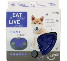 Eat Slow Live Longer Puzzle & Feed Blauw
