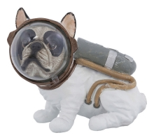 Kare Deco Beeld Gangster Franse Bulldog