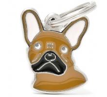 Hondenpenning French Bulldog - Bruin