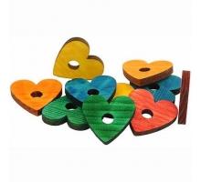 Zoo-Max Houten Hartjes Gekleurd 4,5 cm 10 stuks