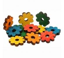 Zoo-Max Houten Bloemen Gekleurd 4 cm 12 stuks