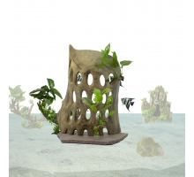 Back Zoo Nature Holes Wood on Stand Medium