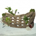 Back Zoo Nature Holes Wood on Stand Large