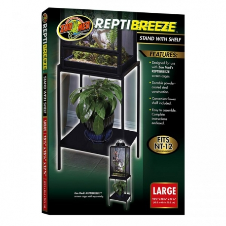 Zoo Med ReptiBreeze Stand with Shelf Large