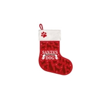 Kerst Stocking Santa's Favourite Dog