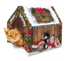 Merry Pets Kerst Huis Kat