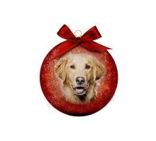 Kerstbal Frosted Golden Retriever