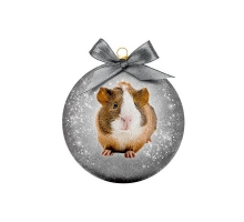 Kerstbal Frosted Cavia