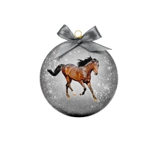 Kerstbal Frosted Paard