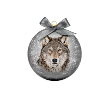Kerstbal Frosted Wolf