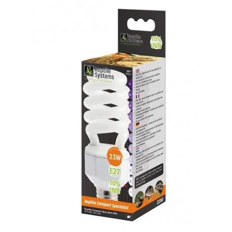 Reptile Systems Compact Lamp Specialist D3+ 10% UVB 23watt