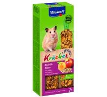 Vitakraft fruit/flakes-kräcker hamster 2in1