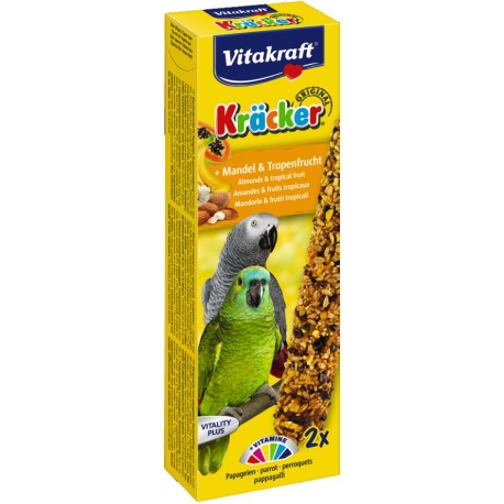 Vitakraft Kracker Papegaai Amandel en Tropisch Fruit 2 stuks