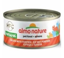Almo Nature Kip met Pompoen 6 x 70 gr