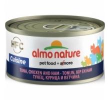 Almo Nature Tonijn met Kip en Ham 6 x 70 gr