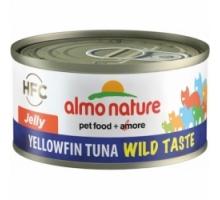 Almo Nature Wild Taste Jelly Tonijn Yellow Fin 6 x 70 gr