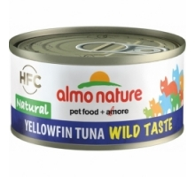 Almo Nature Wild Taste Natural Tonijn Yellow Fin 6 x 70 gr