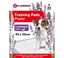 Flamingo Puppy Trainingsmat S 20 st Lavendel