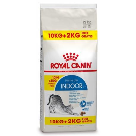 Royal Canin Bonusbag Indoor 27 10 + 2 kg GRATIS