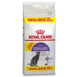 Royal Canin Bonusbag Sterilised 37 10 + 2 kg GRATIS