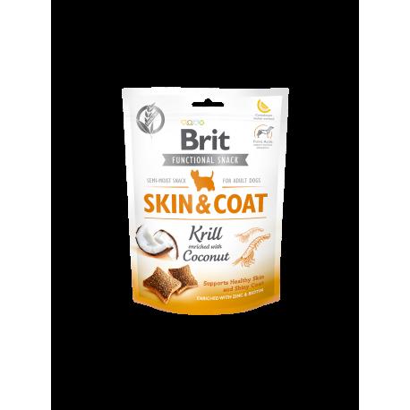 Brit Functional Snack Skin & Coat Krill 150 gr