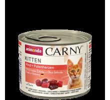 Animonda Carny Kitten Rund/Kalkoen 6 x 200 gr