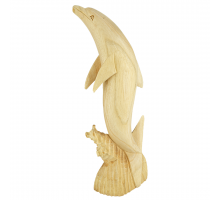 Dolfijn Hout Dubbel 50cm