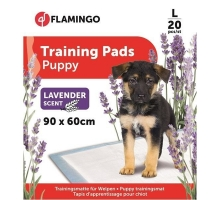 Flamingo Puppy Trainingsmat L 20 st Lavendel