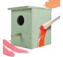Vogelhuisje verven