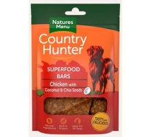 Natures Menu Country Hunter Superfood Bars Chicken 100 gram