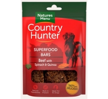 Natures Menu Country Hunter Superfood Bars Beef 100 gram