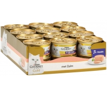 Gourmet Gold Mousse Senior Zalm 24 x 85 gr