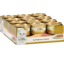 Gourmet Gold Hapjes Kalkoen/Eend 24 x 85 gr