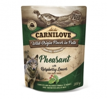 Carnilove Pouch Pheasant with Raspberry Leaves 300 gram
