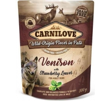 Carnilove Pouch Venison with Strawberry Leaves 300 gram