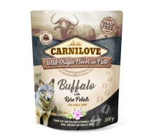 Carnilove Pouch Buffalo with Rose Petals 300 gram
