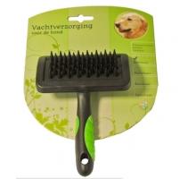 Hondenborstel Rubber Massage Medium