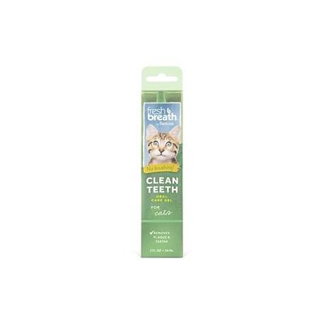 TropiClean Fresh Breath Clean Teeth OralCareGel - Cats 59ml