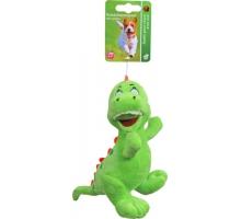 Boony Hondenspeelgoed Pluche Dino Groen 15 cm met Piep