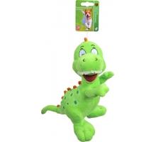 Boony Hondenspeelgoed Pluche Dino Groen 25 cm met Piep