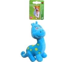 Boony Hondenspeelgoed Pluche Dino Blauw 15 cm met Piep