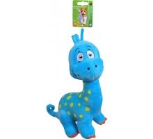 Boony Hondenspeelgoed Pluche Dino Blauw 25 cm met Piep