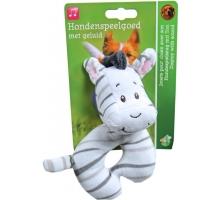 Boony Hondenspeelgoed Pluche Zebra 13 cm met Piep