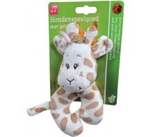 Boony Hondenspeelgoed Pluche Giraffe 13 cm met Piep