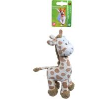 Boony Hondenspeelgoed Pluche Giraffe 20 cm met Piep