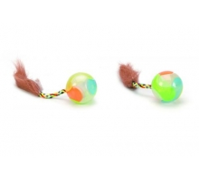 Beeztees Kattenspeelgoed Plastic Glow Kattenbal (2 stuks)