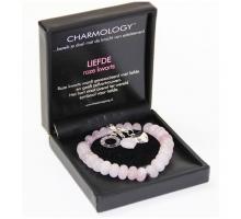Charmology Armband Rond Love rozekwarts