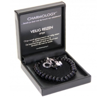 Charmology Armband Rond Safe Travel onyx