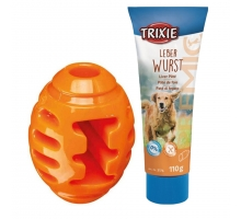 Trixie Soft & Strong Rugby 10 cm + GRATIS Tube Leverworst