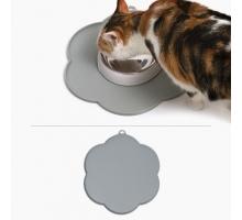 Cat It Placemat Bloem 30 cm Grijs
